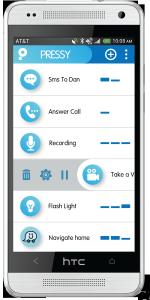 © pressybutton.com So soll die App aussehen, mit der die Funktionen des Buttons gesteuert werden können.