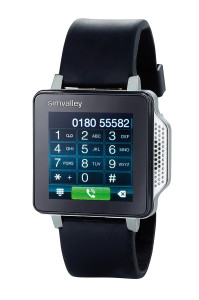simvalley MOBILE Handy-Uhr PW-315.touch (Bild © Pearl/Simvalley)