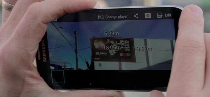 So sieht eine berechnete Fläche mit Spike auf dem Smartphone aus. (Bild: © Spike/Kickstarter)
