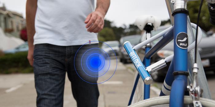 BitLock Bügelschloss mit Smartphonesteuerung (Bild: Kickstarter/© Mesh Motion Inc)