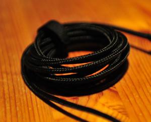Das Stoff ummantelte Kabel der G600