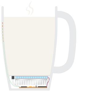 Der Aufbau des Bechers (Bild: Kickstarter/© Smart Mug)