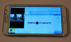 Mittels Remote Viewer Splashtop holen wir das Bild vom Windows-Rechner auf das Smartphone.