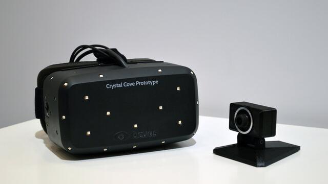 Der Oculus Rift Crystal Cover Prototyp mit einbeauten LEDs zum Positionstracking (Bild: ©  Oculus VR, Inc.)