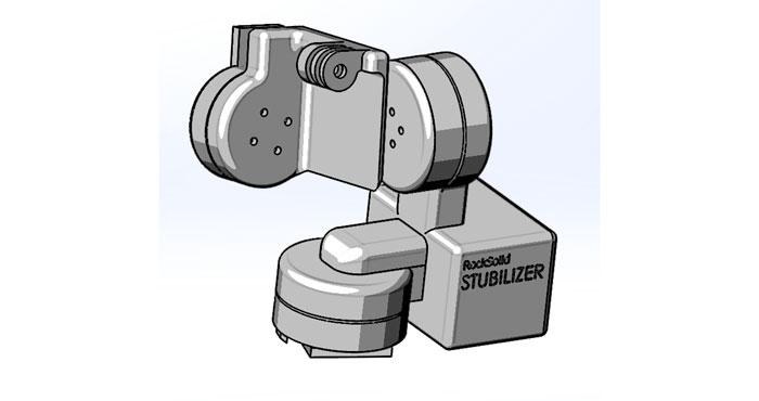 Die Stubilizer-Action Cam-Haltung (Bild: kickstarter/© Stuart Smith)