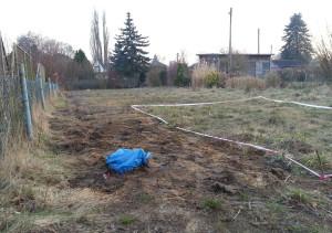 Das Grundstück nach der Finalisierung des Kabel-Grabens. Ein weiter Weg.