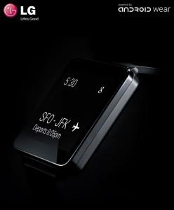 In schwarze erinnert die G Watch ein bisschen an die Sony Smartwatch. Gut, dass man hier keine Androidbuttons sieht. (Bild: © LG Electronics)