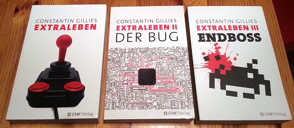 """Feine Buchserie mit Retro-Charm - """"Extraleben"""" von Constantin Gillies (Bild: miy.de)"""
