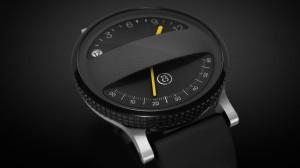 Der Jog-Dial spannt sich wie ein Reifen einmal komplett um die Uhr (Bild: © Box Clever)