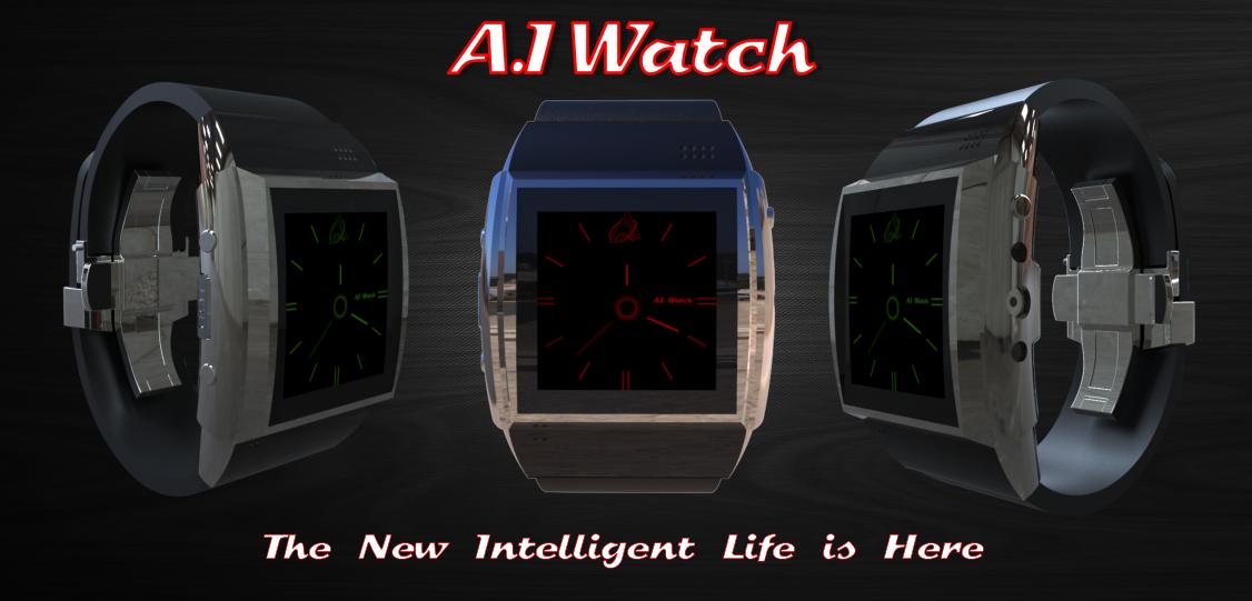 Zwar nur die A.I Watch, die Ultar sieht aber auch nicht anders aus. (Bild: indiegogo / © A.I Technologies)