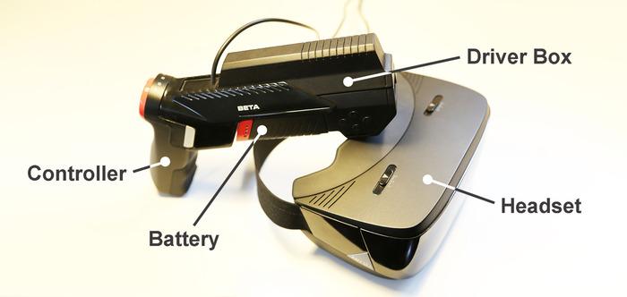 VR-Brille und Controller, auf Wunsch auch ohne Kabel - ANTVRKIT (Bild: kickstarter/© ANTVR)