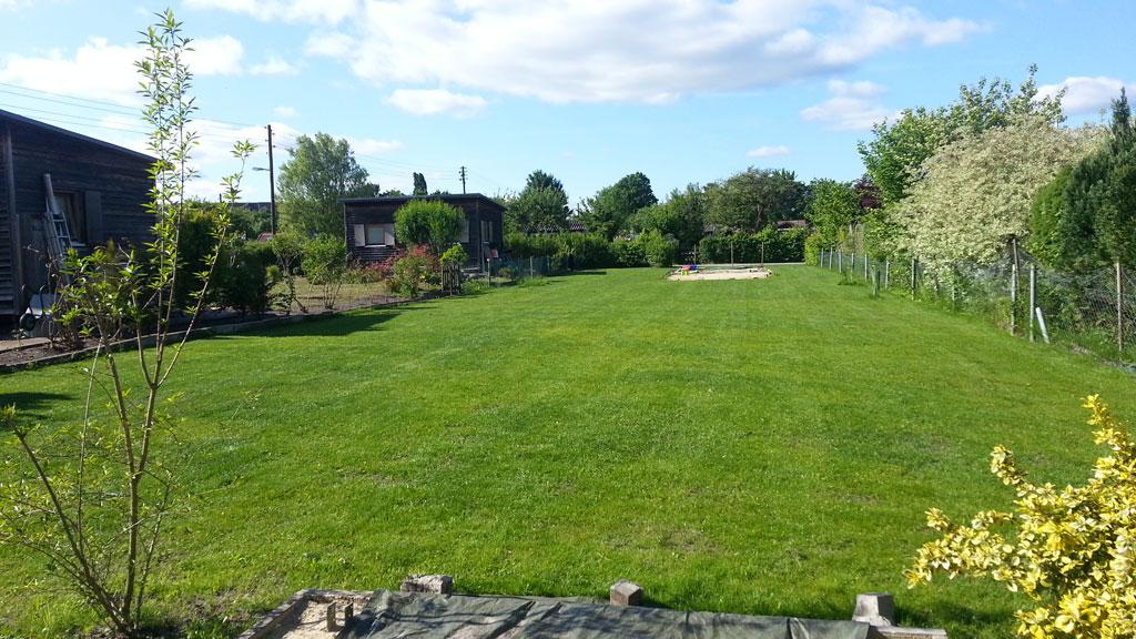 Schöner Rasen. Fehlt nur noch das Haus. (Bild: © O.Thiele)