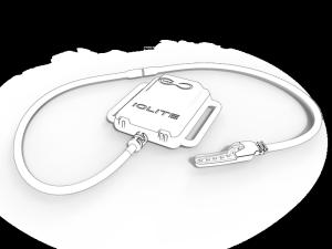 So solls aussehen. Ein GPS-Modul mit LED-Leiste am Kabel. (Bild: kickstarter / ©Team IOLITE)