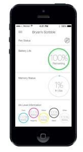 Kein neues Spielzeug ohne App. Auch der Scribble kann sich mit dem Smartphone verinden (Bild: © Scribble)