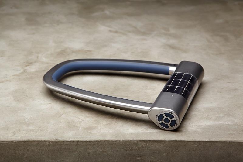 Skylock - Bügelschloss mi Smartphonesteuerung und Solarzellen (Bild: © Skylock)