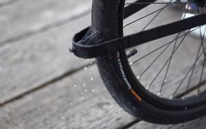 Kein Schutzblech sondern nur eine kleine Bürste  (Bild: Oregon Manifest /The Bike Design Project/TEAGUE + Sizemore Bicycle)