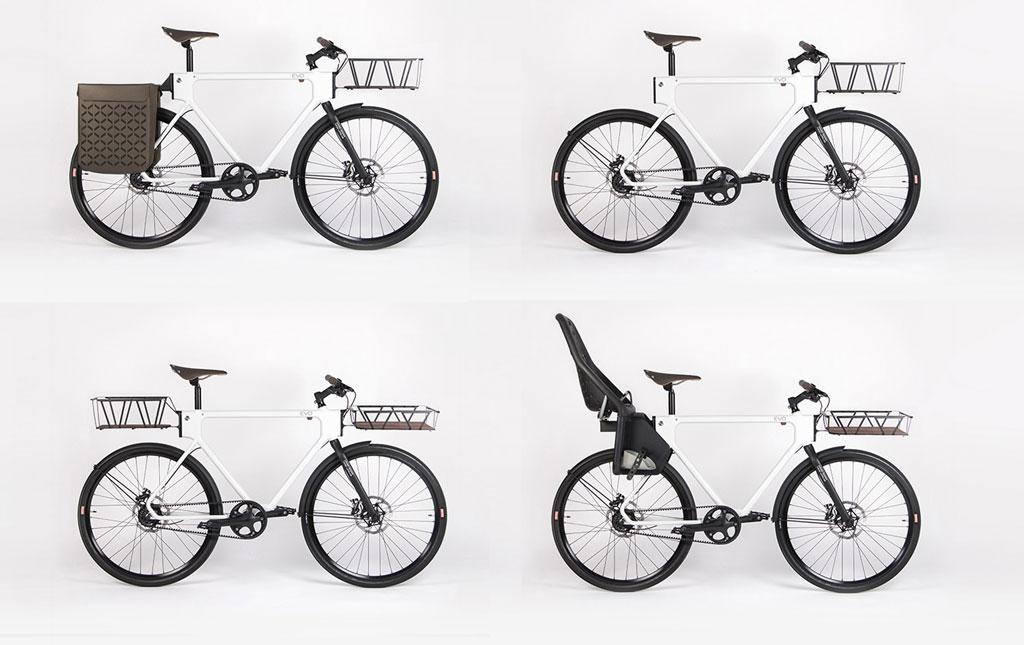 Variable Bestückung mit Transprtträgern (Bild: Oregon Manifest /The Bike Design Project/HUGE Design + 4130 Cycle Works)