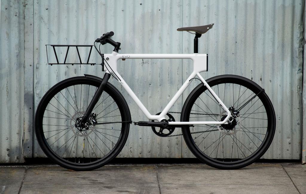 Symmetrischer Rahmen als Basis des Lastenesels - das EVO Urban Utility Bike (Bild: Oregon Manifest /The Bike Design Project/HUGE Design + 4130 Cycle Works)