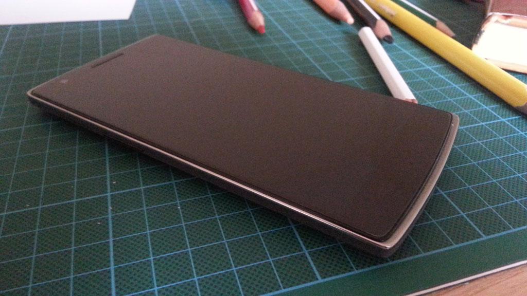 Neues Spielzeug - das Oneplus One Smartphone mit Cyanogenmod (Bild: © O.Thiele)