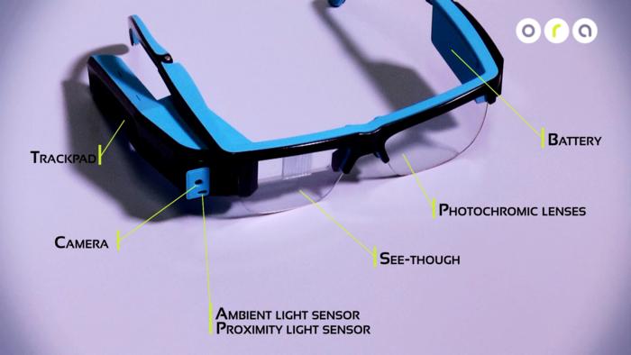 Endlich mal wieder wtas Google Glass Konkurrenz - ORA-1 von Optinvent (Bild: kickstarter/© Optinvent)