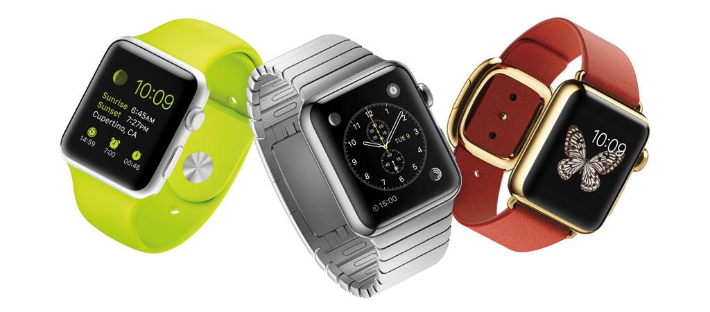 Die drei Ausprägungen der Apple Watch: sportlich, normal und edel (Bild: © Apple)