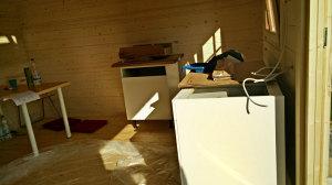 Küchenzeile im Rohbau. Mal schauen, ob wir die fehlenden Teile noch zusammen bekommen (Bild: © O. Thiele)