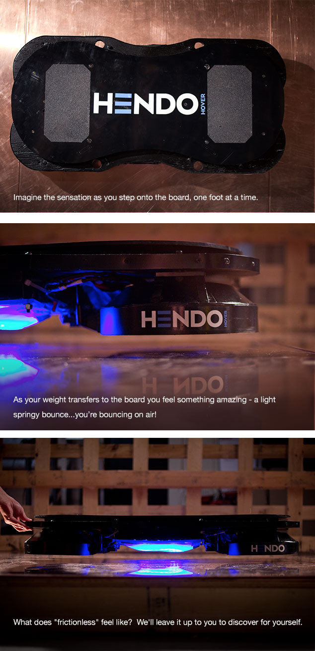 Hoverboard mit Magnetschwebe-Technik - das Hendo Hoverboard (Bild: Kickstarter/©Hendo Hover )