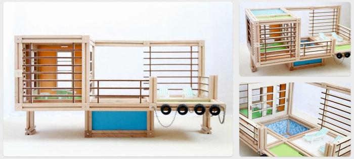 Holzspielzeug für kleine Architekten - Woody Mac (Bild: kickstarter/ © WoodyMac Inc.)