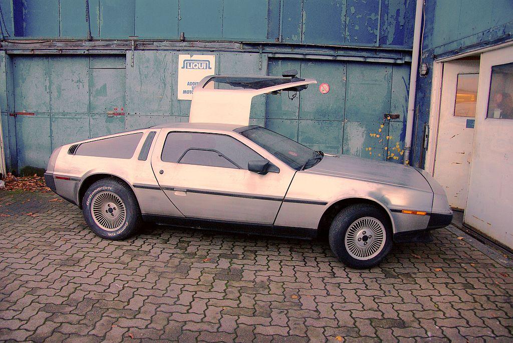 Der normale DeLorean sieht zwar besonders, aber doch etwas schmucklos aus (Bild: © J.Kowalewski)