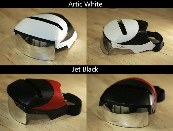 Wenn es wenigstens noch als Fahrradhelm taugen würde - SEER AR-Helm (Bild: kickstarter / ©Caputer Labs Inc)
