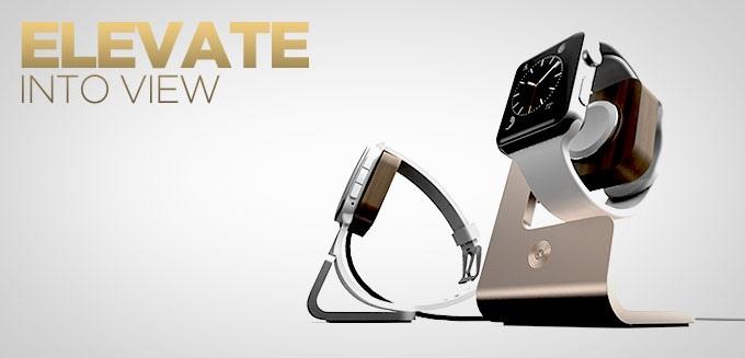 Nicht nur für Pebble Time sonder auch für die Apple Watch erhältlich - Moduul Charging Dock (Bild: indiegogo / © moduul)