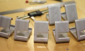 Das sieht doch schon mal vielversprechend aus. Die ersten CNC-gefräßten Prototypen (Bild: kickstarter/© Daniel Bauen + Microfacturing)