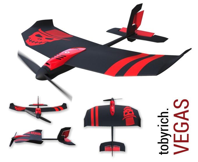 RC-Flugzeug mit Mehrwert - tobyrich.vegas Gaming-Drohne (Bild: kickstarter/ © TobyRich)