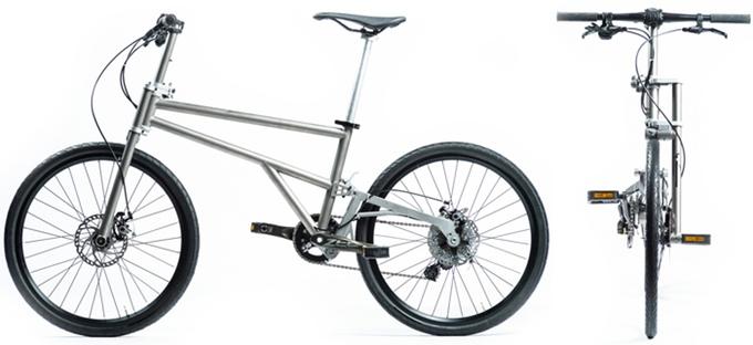 Klein gepackt, groß gefahren - Helix Folding Bike (Bild: kickstarter/ © HELIX)