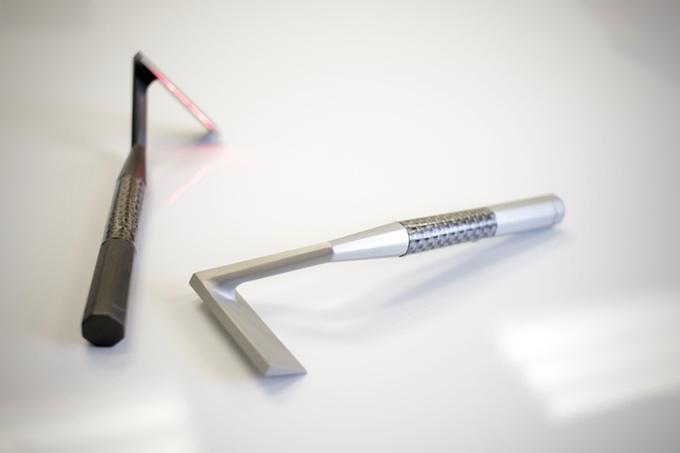 Rasieren mit Laser? Wie gerne würde ich jetzt ein Bild von Dr. Evil nutzen können? (Bild: kickstarter/ © Skarp Technologies)