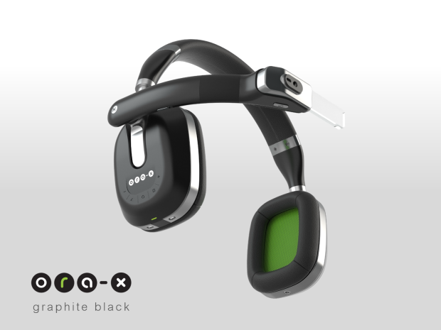 Smartglass mit Kopfhörer... oder anders herum (Bild: indiegogo/ © Optinvent)