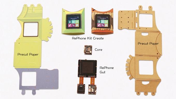 Smartphone zum zusammenstecken - das RePhone Kit von Seeed Studio (Bild: kickstarter/ © seeedstudio.com)