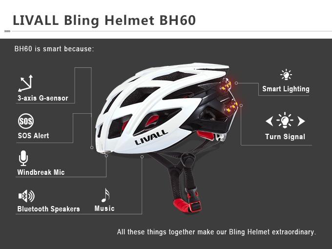 Smart und leichter als sein Vorgänger - der LIVALL BH 60 Smart Helm (Bild: kickstarter/© livall.com)