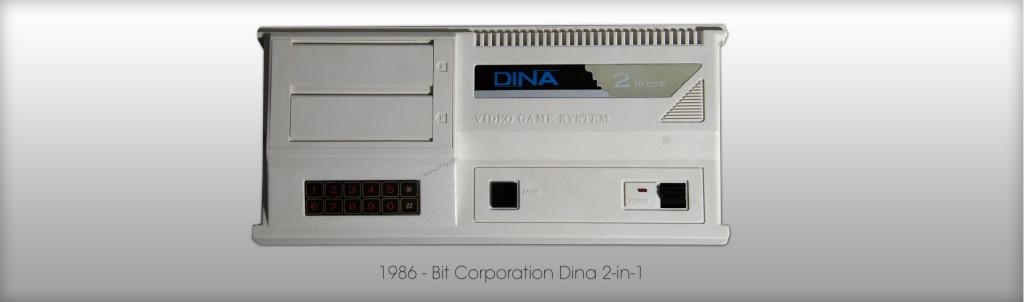 Eine etwas seltenere Multislot-Konsole - Bit Corporation Dina 2-in-1 von 1986. (Bild: © Oliver Thiele / miy.de)