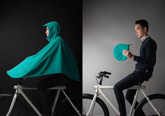 Der stylische Poncho für das stylische Bike - BONCHO von VANMOOF (Bild: kickstarter/ © vanmoof.com)