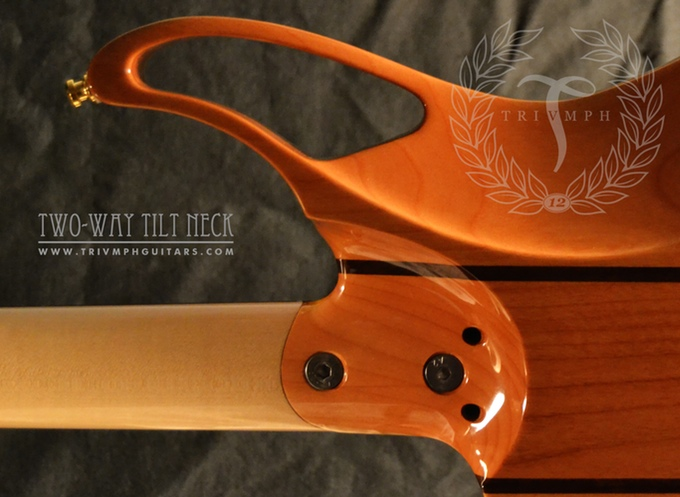 Weg mit klotzigem Übergang zum angeschraubten Halz - Trivmph Guitars (Bild: kickstarter/© Alfio D'Ambrosio Paolo Sorgi)