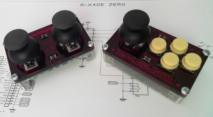 Retro-Emulator mit integriertem Stick in Kleinstform - R-Kade Zero (Bild: kickstarter/ © DTronixs)