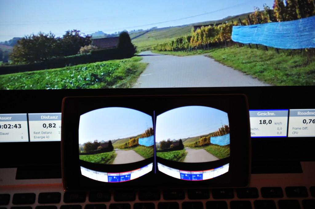 Real-Life-Video von Ergoplanet via Trinus VR auf das Smartphone gestramt (Bild: miy.de/© Oliver Thiele)
