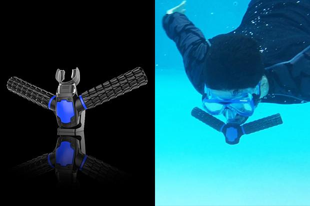 Schwimmen, wie ein Fisch im Wasser... ohne fetter Druckflasche - Triton (Bild: indiegogo/© Saeed Khademi)