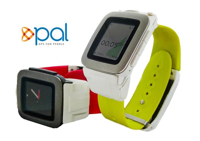 Endlich GPS an der Pebble Time - Pal Strap Smartstrap-Armband (Bild: kickstarter/ © palstrap.com)