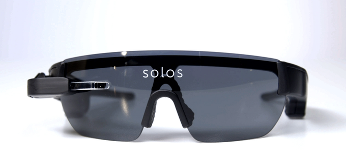 Wo ist das HUD? Solos Smart Cycling-Brille (Bild: kickstarter/© solos-wearables.com)