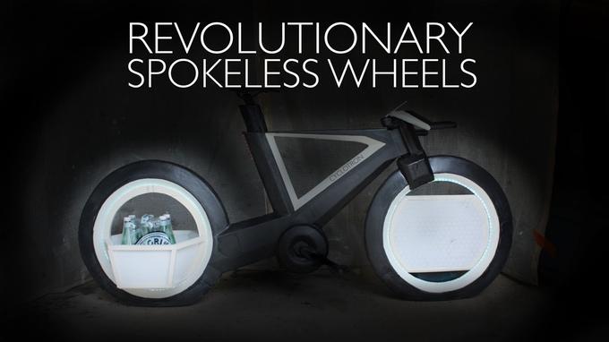 So futuristisch, dass wir wohl noch lange drauf warten werden - das Cyclotron Bike (Bild: kickstarter/© Cyclotron Cycles)