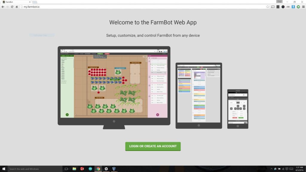 Kein Roboter ohne umfangreiche Web-App-Steuerung (Bild: FarmBot Inc.)