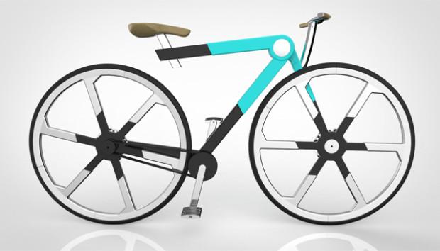 Sieht ja nicht schlecht aus, ist allerdings so nur schwer umetzbar (wenn überhaupt) - das ZED'O Faltrad (Bild: indiegogo/© ZED'O Bikes )