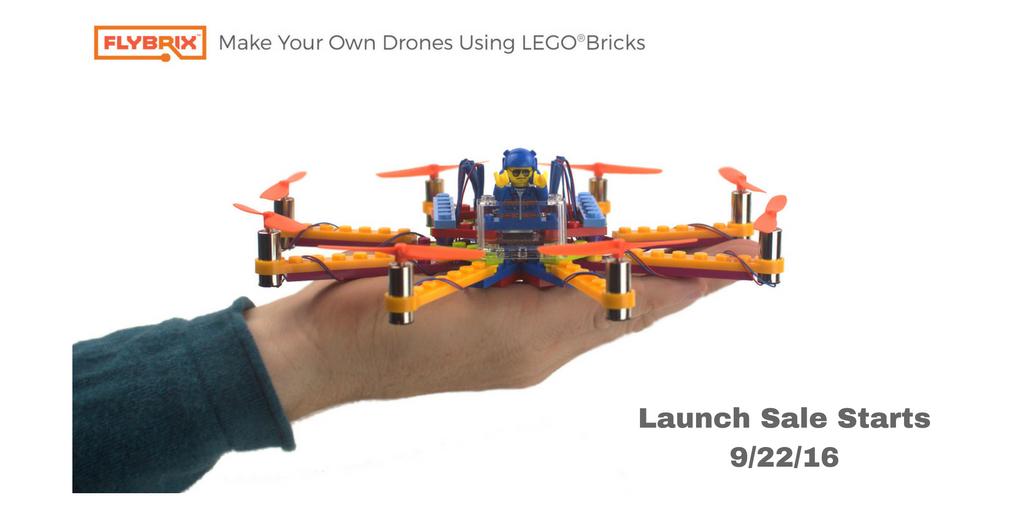 Endlich Lego fliegen lassen, ohne es werfen zu müssen - Flybrix Drohnen-Set (Bild: © Flybrix)